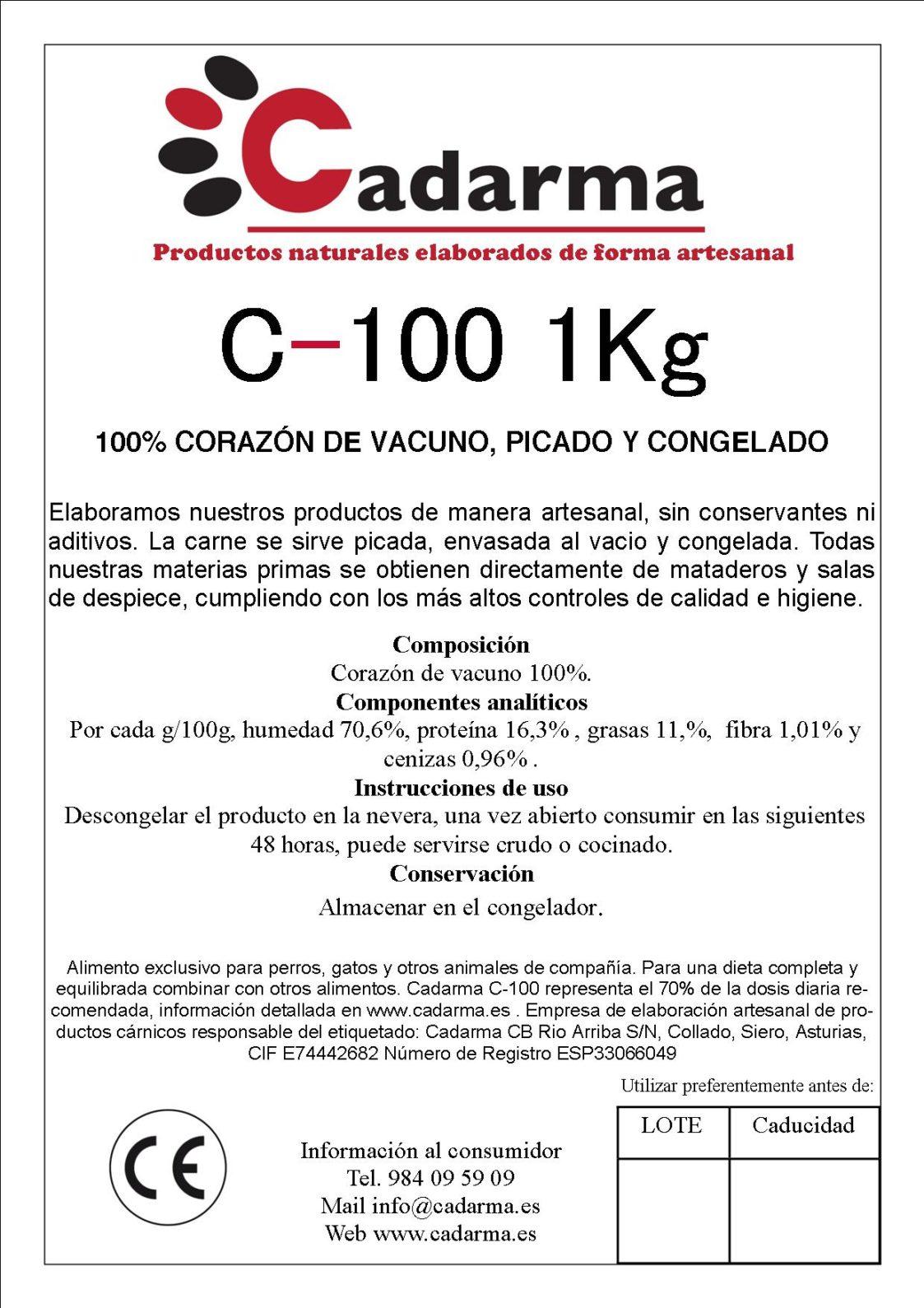etiqueta 11 C100 1KG