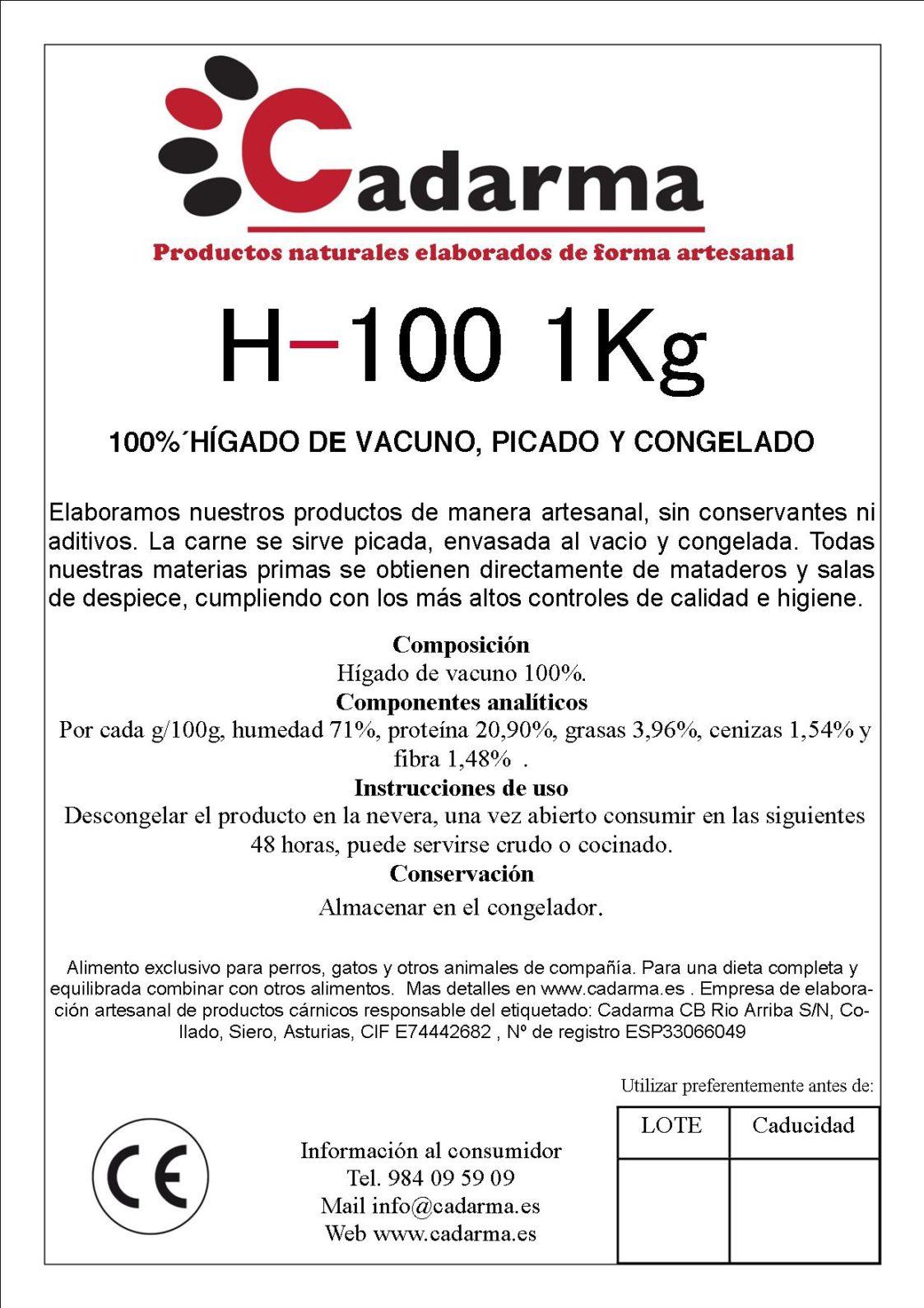 etiqueta 11 H100 1KG