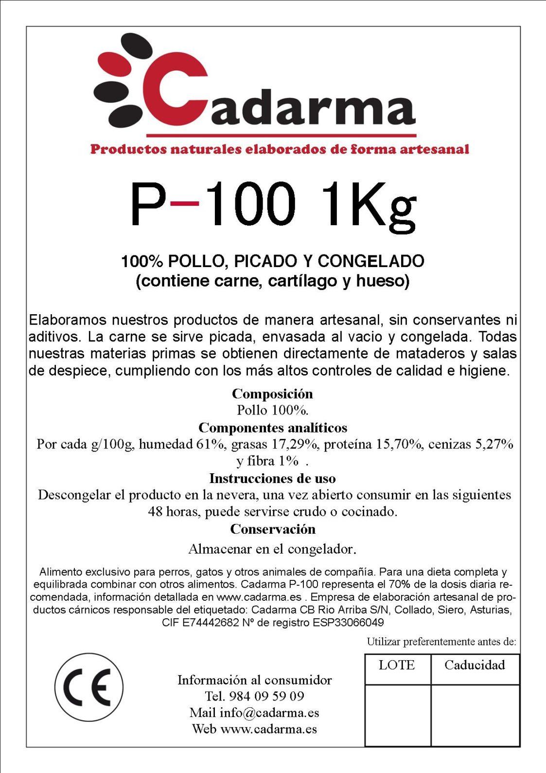 etiqueta 11 P100 1KG
