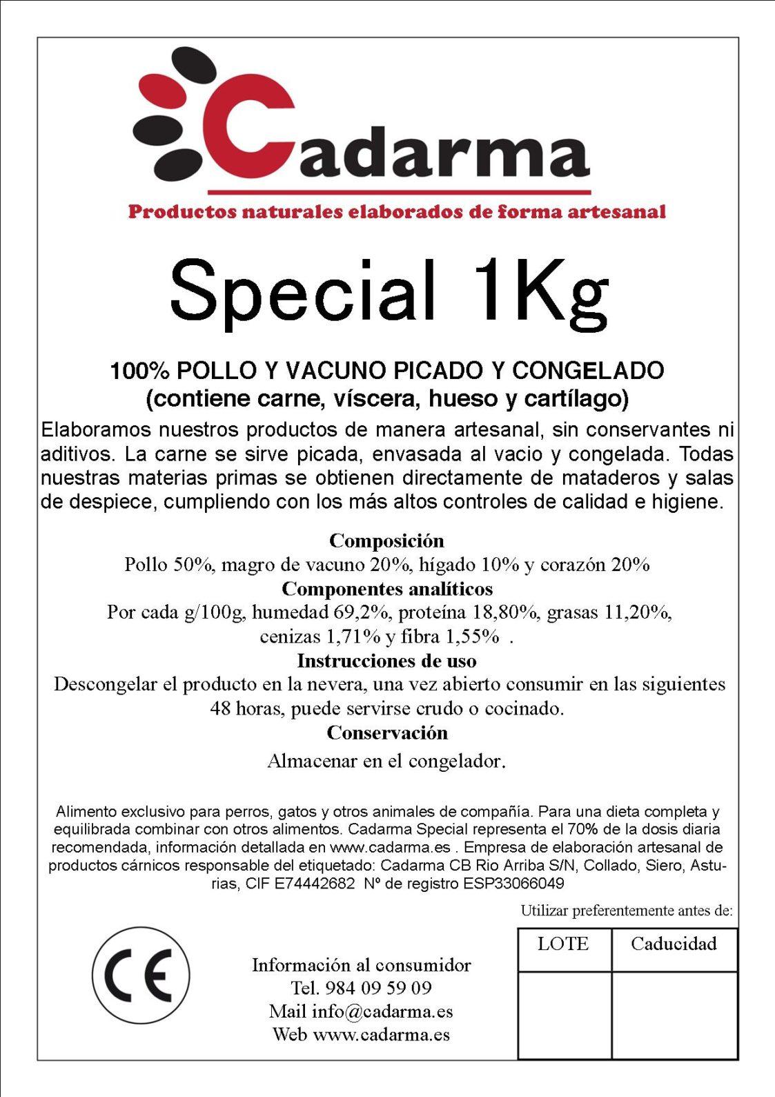 etiqueta 11 Special 1KG