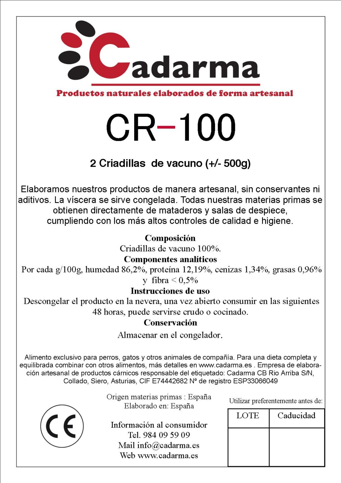 CR-100 500g