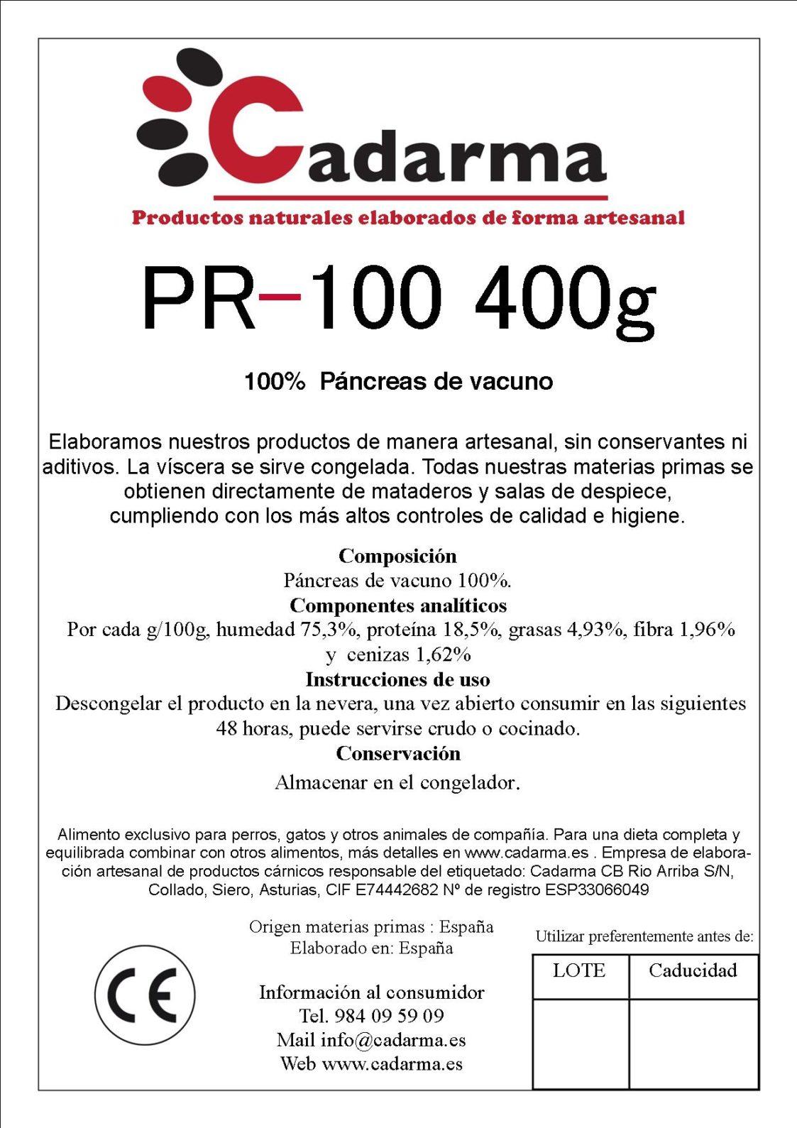 PR-100 400g