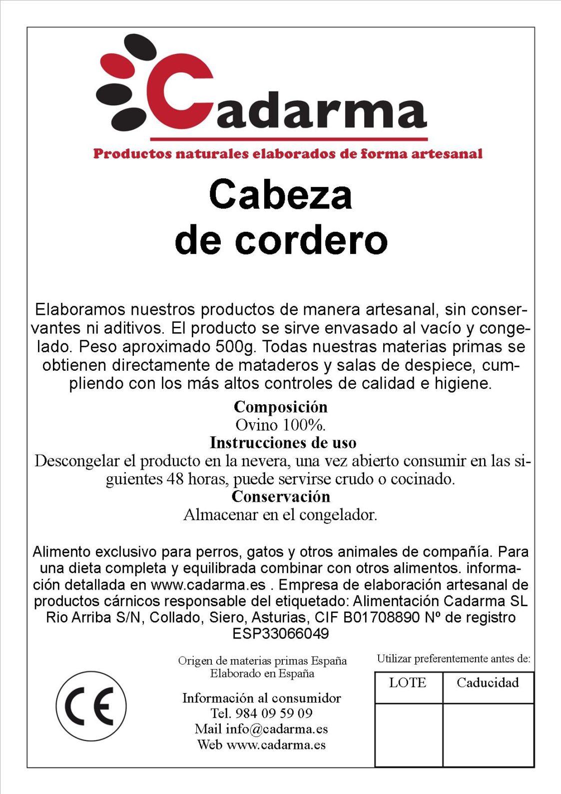 CABEZA DE CORDERO